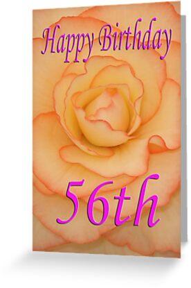 Happy 56th Birthday Flower By Martinspixs