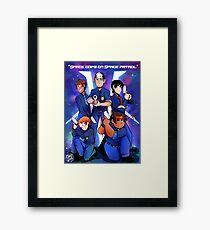 Space cops on space patrol Framed Print