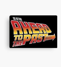 Go Retro - Ahead To The Past Canvas Print