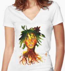 Willow Smith Women's Fitted V-Neck T-Shirt
