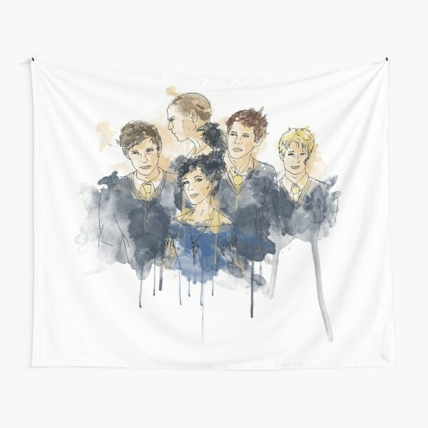 Cabeswater Crew (watercolors - Light) Tapestry
