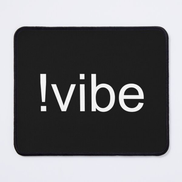 Just Vibe White Mouse Pad