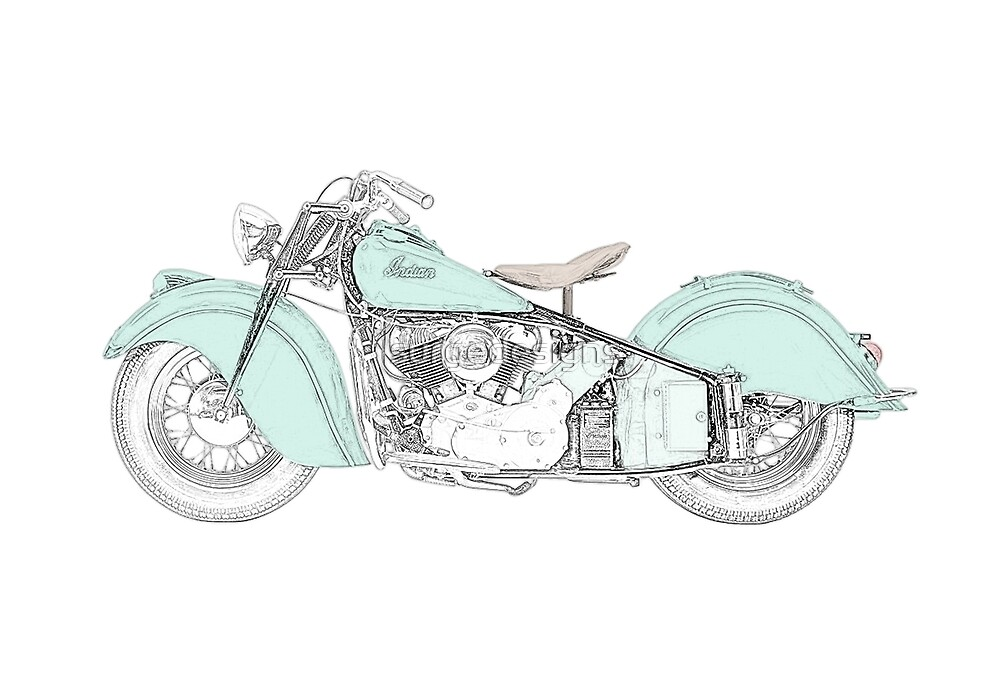 Indian Chief Motorcycle 1948  by surgedesigns