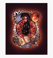 Black Cat Magic Photographic Print