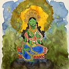Green Tara by dkatiepowellart