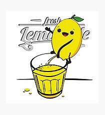 Lemon pees fresh lemonade Photographic Print