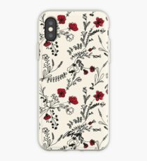Red Flower Pattern iPhone Case