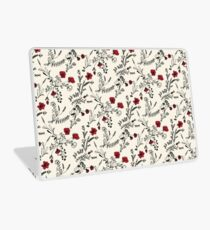 Red Flower Pattern Laptop Skin