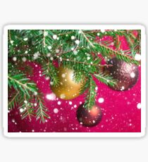 Christmas festive background.  Sticker