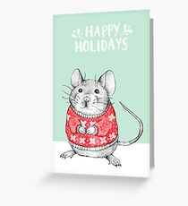 A Festive Mouse Greeting Card