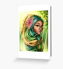 Golden Afternoon - Portrait in June Greeting Card