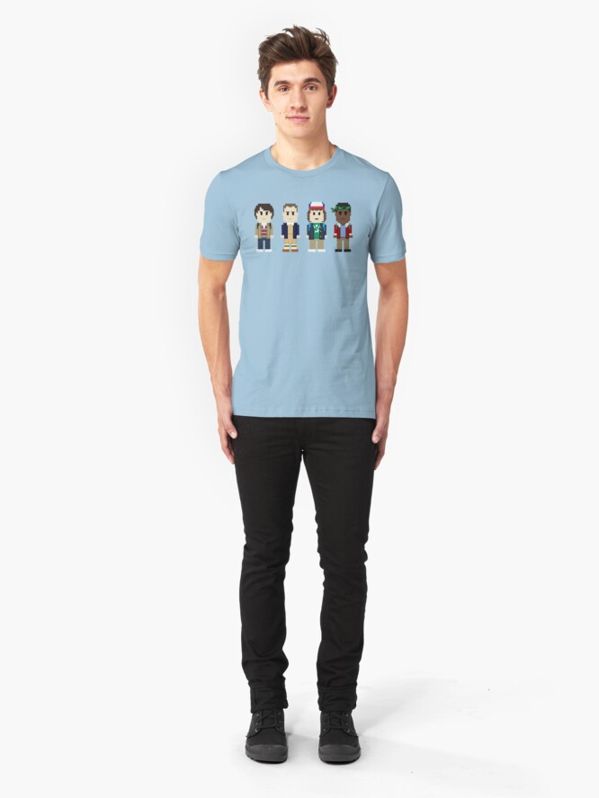 Alternate view of 8-Bit Stranger Kids Slim Fit T-Shirt