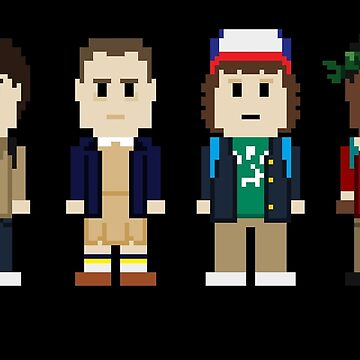8-Bit Stranger Kids by AlCreed