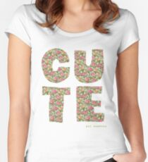 Cute - cynical version Women's Fitted Scoop T-Shirt