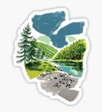 Outdoors Sticker