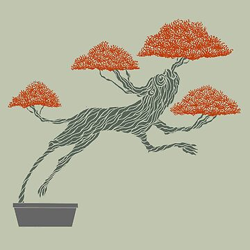 Bonsai Lion Escapes by SusanSanford