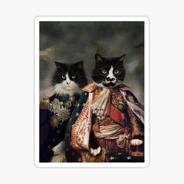 Cat Portrait - Michael and Hero Sticker