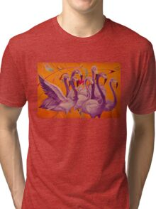 Purple Flamingo Tri-blend T-Shirt