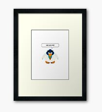 club penguin - can you not Framed Print