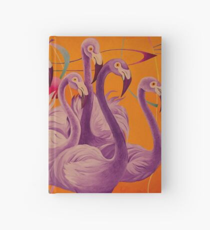 Purple Flamingo Hardcover Journal