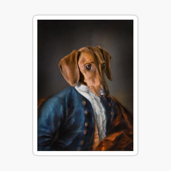 Short Haired Dachshund Portrait - Rueben Sticker