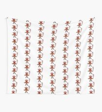 Cute Red Guy Avatar Wall Tapestry