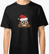 Funny Santa Claus Christmas Poop Emoji Classic T-Shirt