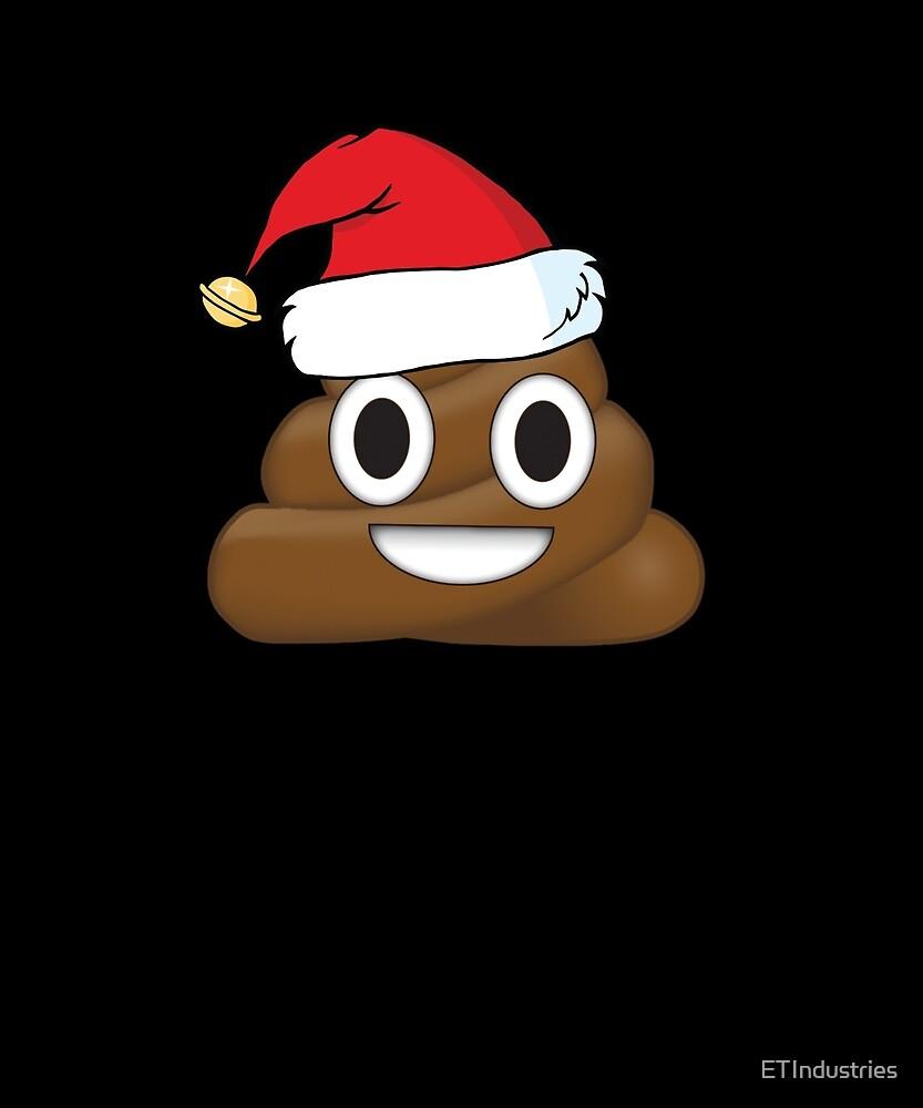 Funny Santa Claus Christmas Poop Emoji by ETIndustries