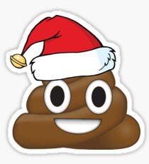 Funny Santa Claus Christmas Poop Emoji Sticker