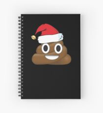 Cuaderno de espiral Divertido Papá Noel Christmas Poop Emoji