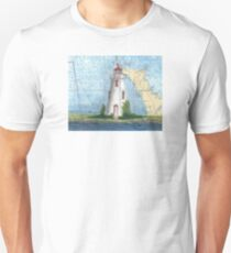 Tobermory Lighthouse Ontario Canada Nautical Chart Peek T-Shirt