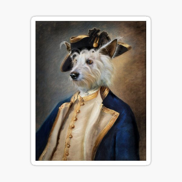 Dog Portrait - Barkley Sticker