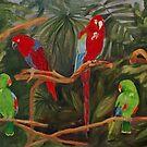 Parrots of Queen Elizabeth Park by lostpineslife
