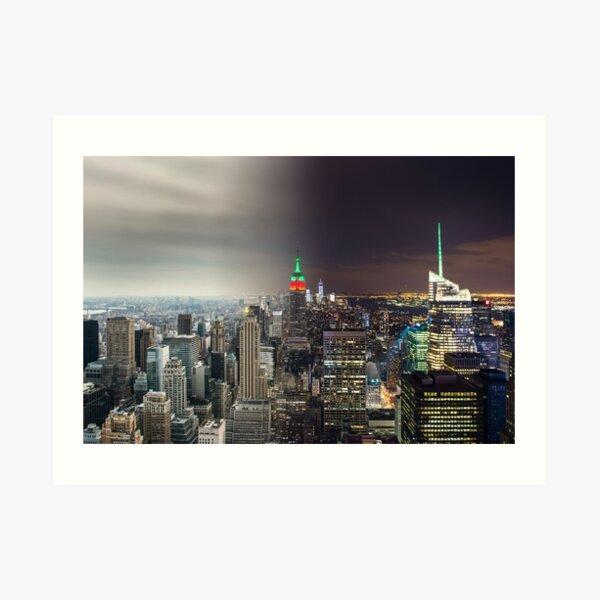 New York Day to Night Art Print