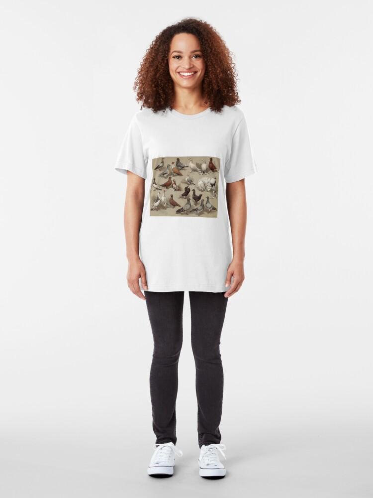 Alternative Ansicht von Taubenzucht-Diagramm Slim Fit T-Shirt