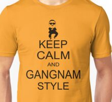 Keep Calm And Gangnam Style Black T-shirt Size S M L XL Unisex T-Shirt