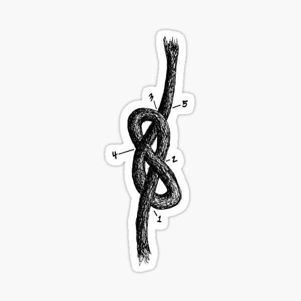 Figure Eight Knot Sticker
