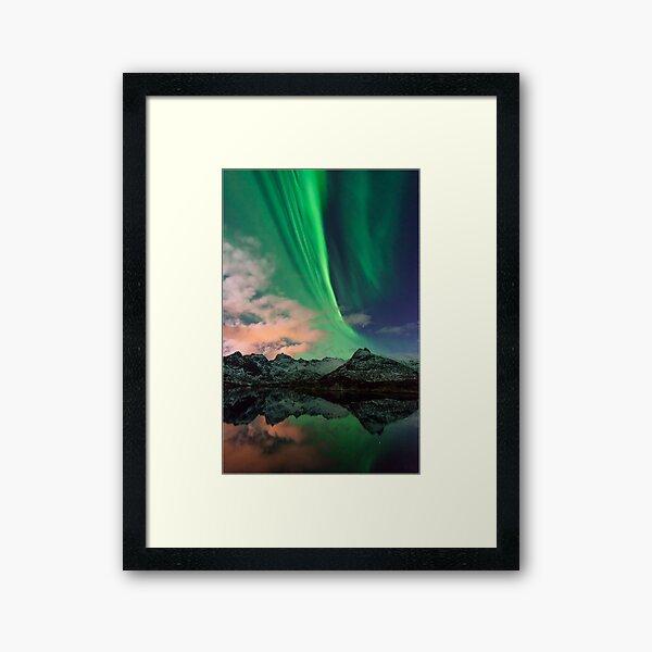 Aurora Borealis - Svolvaer, Norway Framed Art Print