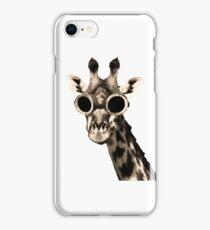 Giraffe With Steampunk Sunglasses Goggles iPhone Case/Skin