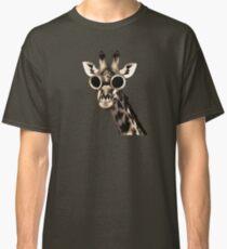 Giraffe With Steampunk Sunglasses Goggles Classic T-Shirt