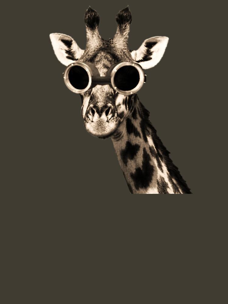 Giraffe With Steampunk Sunglasses Goggles by TheShirtYurt