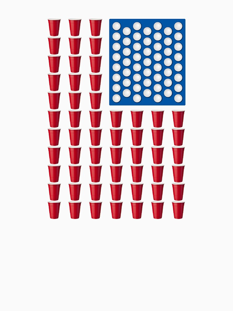 Beer Pong Drinking Game American Flag by TheShirtYurt