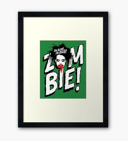 Zombie! Framed Print