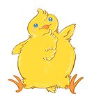Chubby Chick Chicken Waves Hello by SimplyKitt