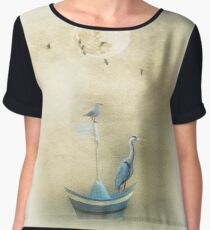 Sailing by the Moon Chiffon Top