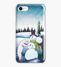 Cats Building a Snowman iPhone Case/Skin