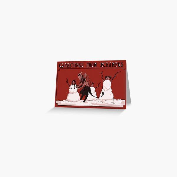 White Krampusnacht Greeting Card