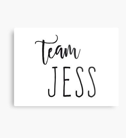 Team Jess Metal Print