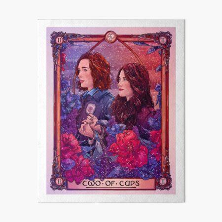 Wynaught   Two of Cups   Wynonna Earp Tarot Art Board Print