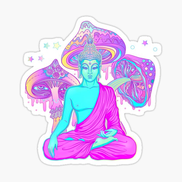 Trippy Buddha Sticker